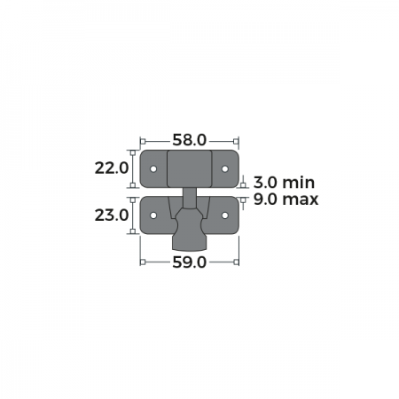 Brighton Fastener Non-Locking Dimensions