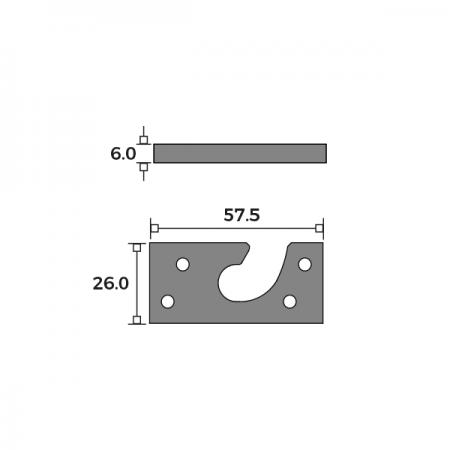 Concealed Central Pivot Set Hook Dimensions