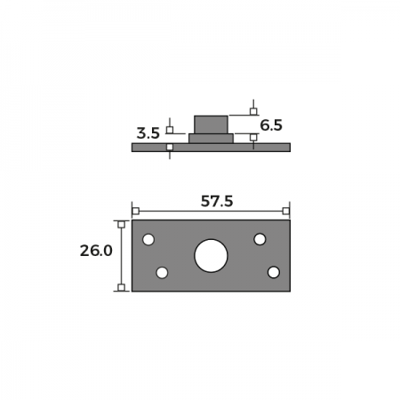 Concealed Central Pivot Set Plate Dimensions