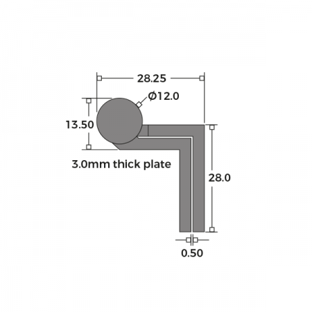 Cranked Large Washered Storm Proof Hinge 100mm Dimensions