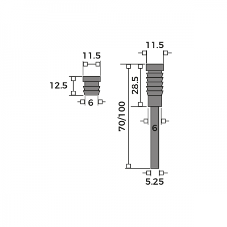 Dual Sash Screw Dimensions