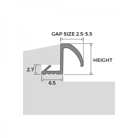 Easy Insertion Weatherseal R Series Dimensions