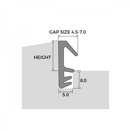 Easy Insertion Weatherseal W Series Dimensions