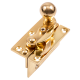 Security Hook Fastener - polished-brass