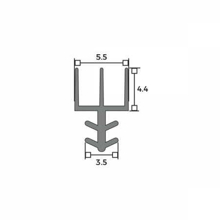 Harmony® Acoustic Trident Seal Dimensions