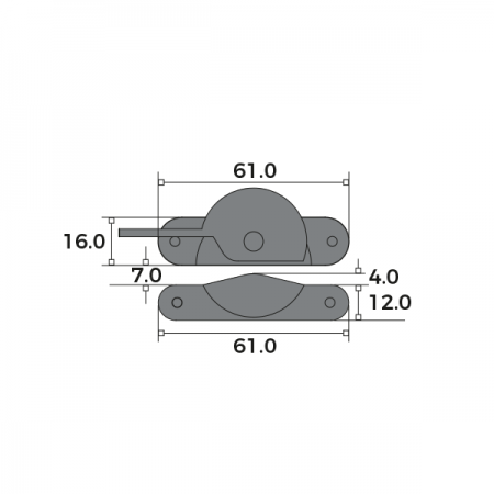 Narrow Fitch Fastener Locking Dimensions