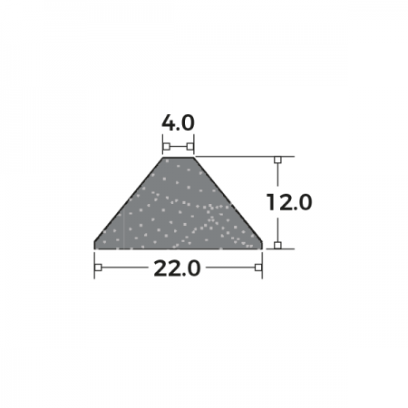 Reddibead Georgian Bar Triangular Dimensions