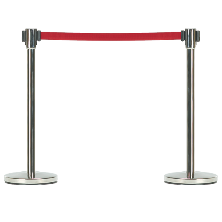 Retractable Barrier Red