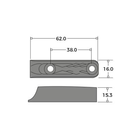 Sash Cord Cleat Dimensions