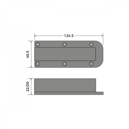 Sash Pulley Cover Dimensions