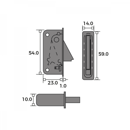 Sash Window Restrictor Side Fix Dimensions