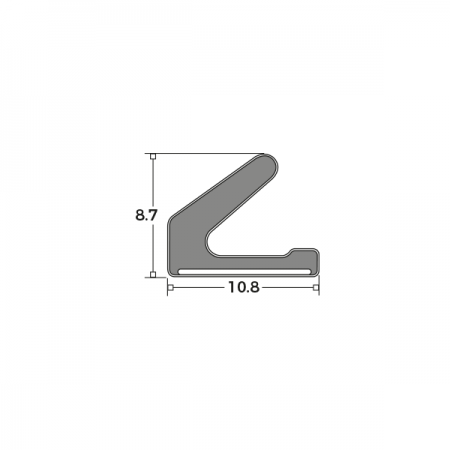 Schlegel SAQ3116WH Self-Adhesive Flipper Seal Dimensions