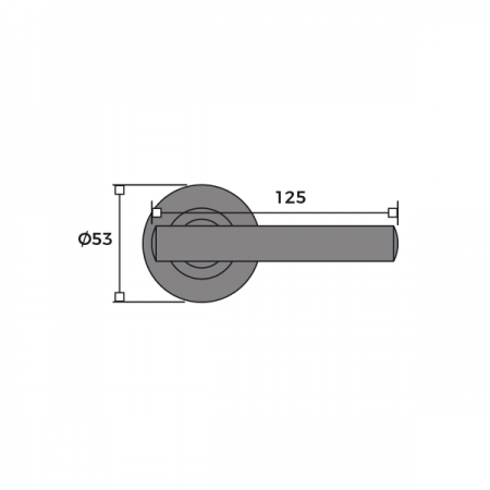 Tempo Internal Round Rose Door Handle Dimensions