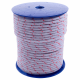 Red Fleck Waxed Sash Cord - 8mm-diameter - 100m-coil