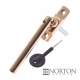 Luxury Forged Tempo Espagnolette Security Handle - Slimline - polished-brass