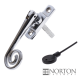 Luxury Forged Spiral End Espagnolette Security Handle - Slimline - right-handed - polished-chrome