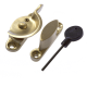 Luxury Forged Narrow Fitch Fastener - locking - polished-brass