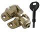 Luxury Forged London Pattern Brighton Fastener - locking - polished-brass