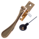 Luxury Forged Spoon End Espagnolette Security Handle - Traditional - left-handed - polished-brass