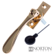 Luxury Forged Spoon End Espagnolette Security Handle - Traditional - right-handed - polished-brass