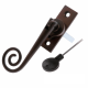 Luxury Forged Spiral End Espagnolette Security Handle - Traditional - left-handed - antique-bronze