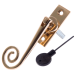 Luxury Forged Spiral End Espagnolette Security Handle - Traditional - left-handed - polished-brass