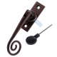 Luxury Forged Spiral End Espagnolette Security Handle - Traditional - right-handed - antique-bronze