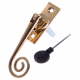 Luxury Forged Spiral End Espagnolette Security Handle - Traditional - right-handed - polished-brass