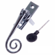 Luxury Forged Spiral End Espagnolette Security Handle - Traditional - right-handed - polished-chrome