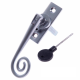 Luxury Forged Spiral End Espagnolette Security Handle - Traditional - right-handed - satin-chrome