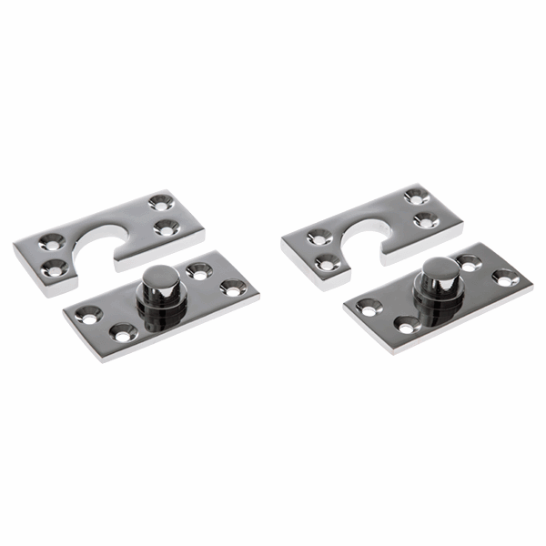 Concealed Central Pivot Set - polished-chrome