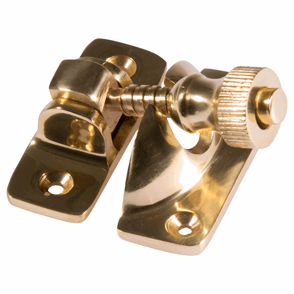 Brighton Fastener - non-locking - polished-brass