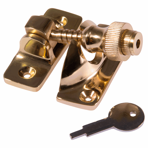 Brighton Fastener - locking - polished-brass
