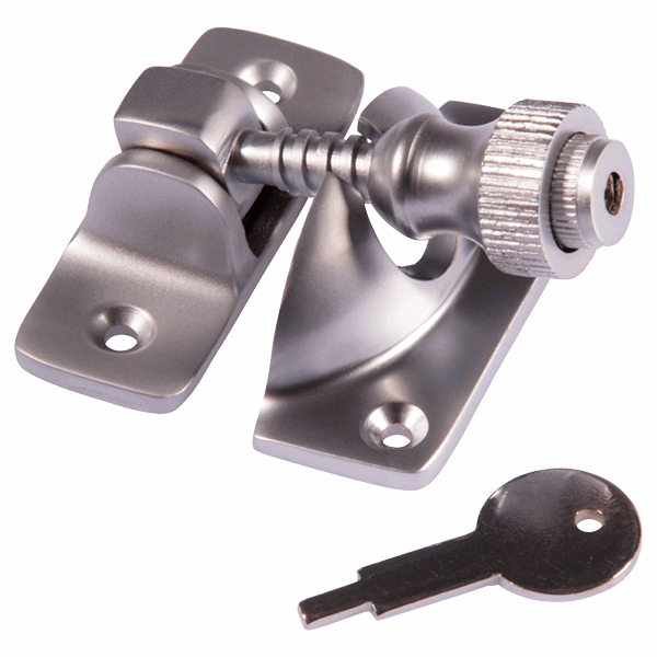 Brighton Fastener - locking - satin-chrome