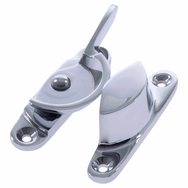 Narrow Fitch Fastener - no - polished-chrome
