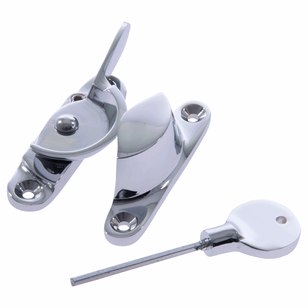 Fitch Fastener - narrow - yes - polished-chrome