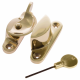 Standard Fitch Fastener - locking - polished-brass