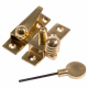 Reeded Arm Fastener - locking - polished-brass
