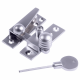 Reeded Arm Fastener - locking - satin-chrome