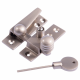 Reeded Arm Fastener - locking - satin-nickel