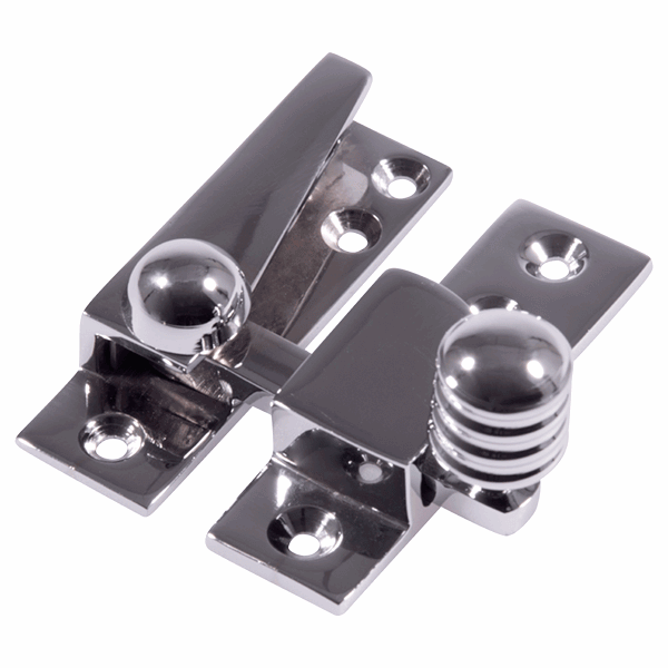 Reeded Arm Fastener - no - polished-chrome