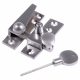 Straight Arm Fastener - satin-chrome