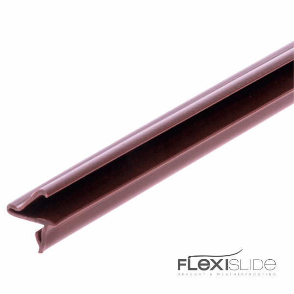Flexislide For Groove and Self-Adhesive - for-2mm-groove - brown - 1-x-2-2m-length