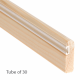 Timber Parting Bead 8 x 28mm - 30-x-3m-length - natural