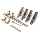 Hook Fastener Sash Window Kit - polished-brass