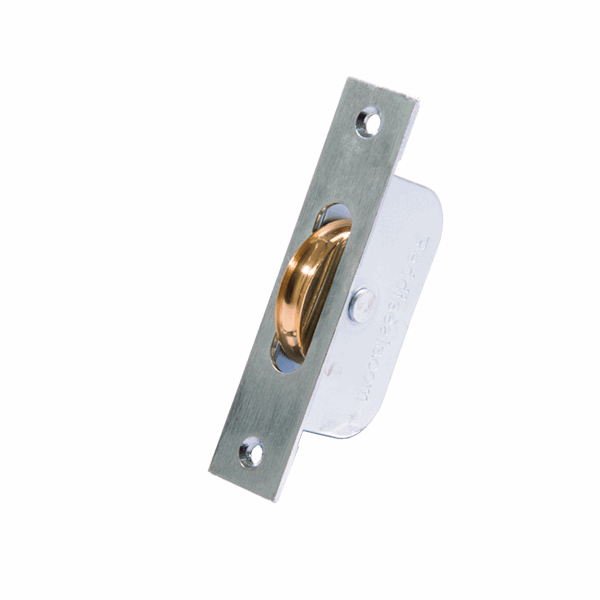 Galvanised Axle Wheel Sash Pulley - square-end