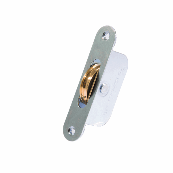 Galvanised Axle Wheel Sash Pulley - radius-end