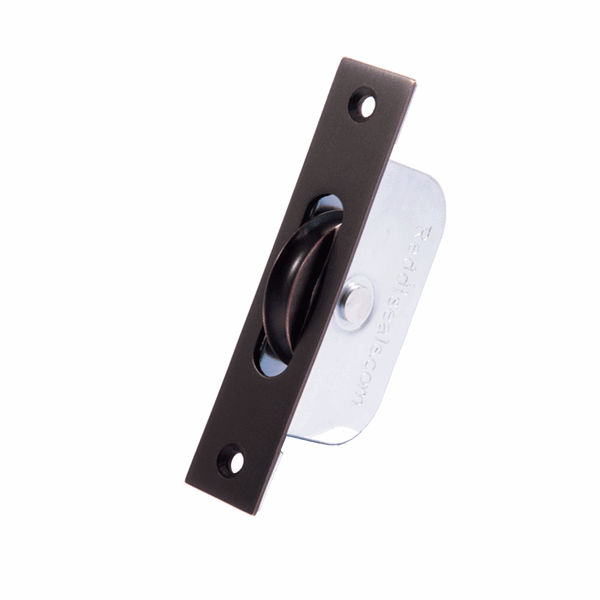 Standard Curved Wheel Sash Pulley - square-end - oil-rubbed-bronze