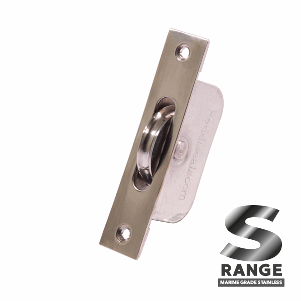 Standard Curved Wheel Sash Pulley - square-end - stainless-steel