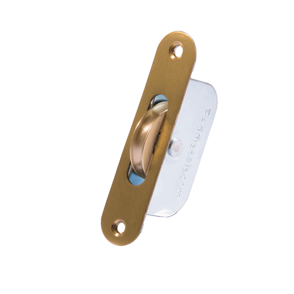 Standard Curved Wheel Sash Pulley - radius-end - brass
